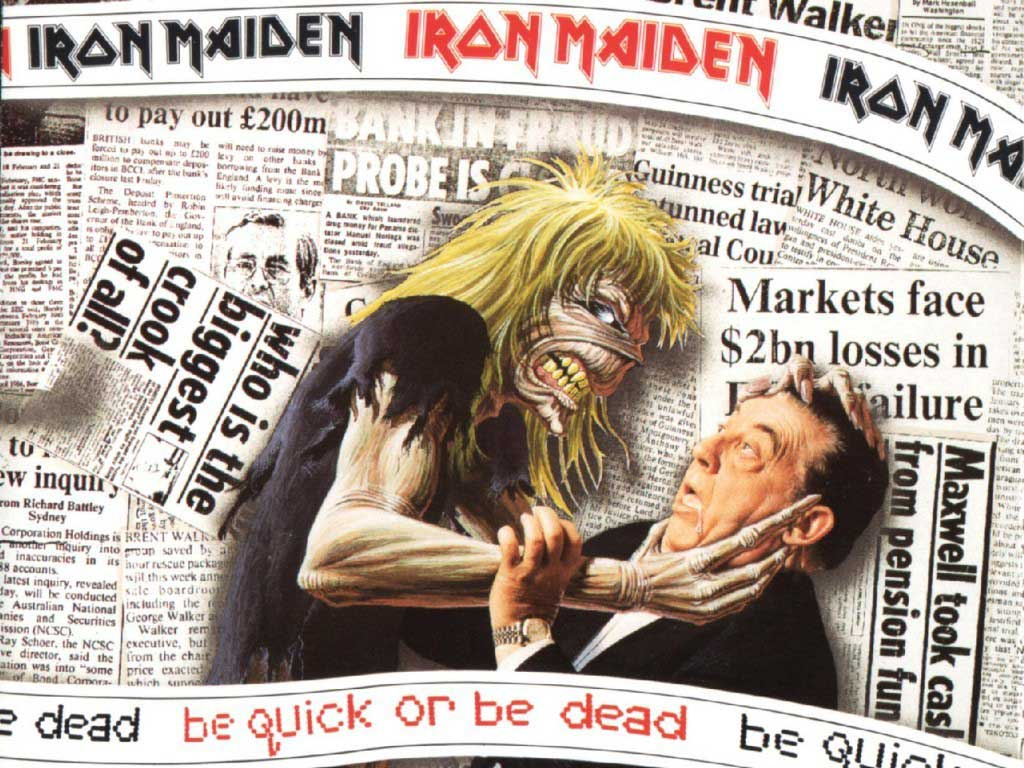 Music Wallpaper: Iron Maiden - Be Quick or Be Dead