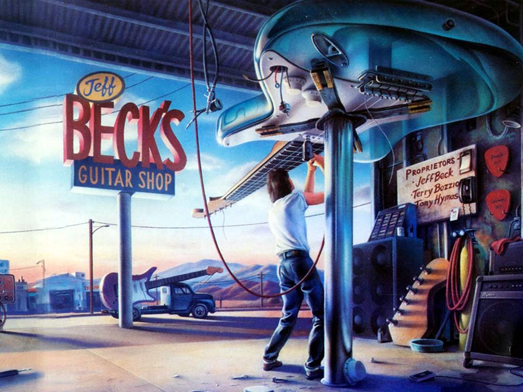 Music Wallpaper: Jeff Beck's Guitar Shop