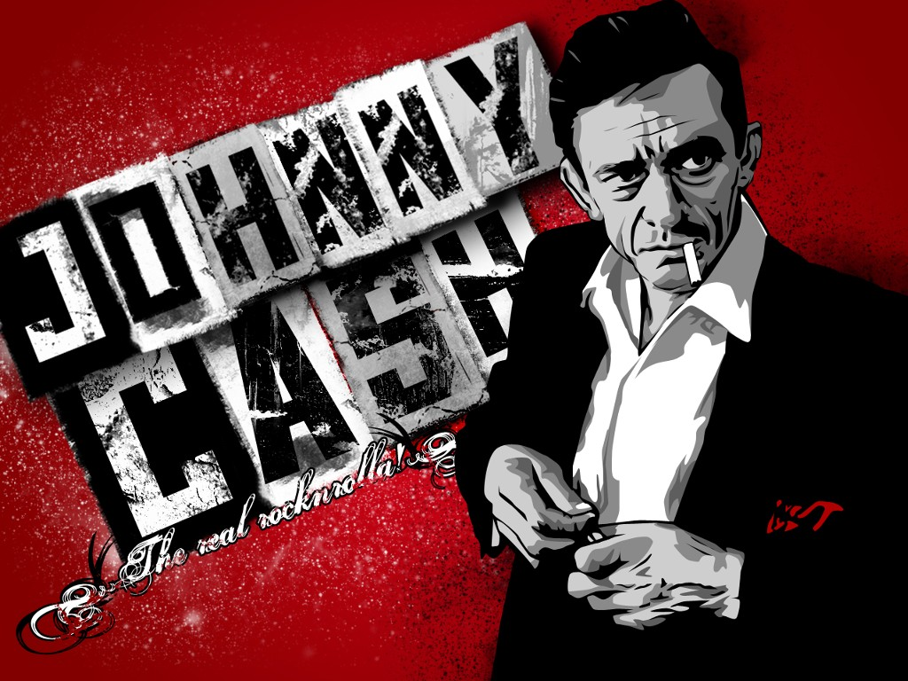 Music Wallpaper: Johnny Cash - Vector