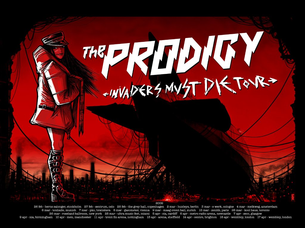 Music Wallpaper: Prodigy - Invaders Must Die Tour