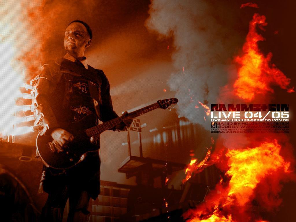 Music Wallpaper: Rammstein - Live