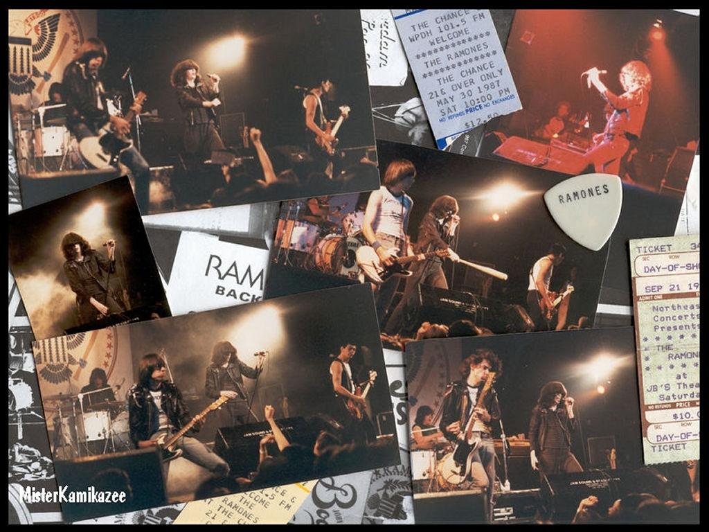 Music Wallpaper: Ramones - Collage