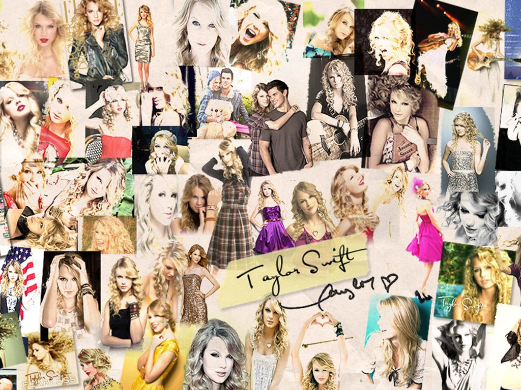Music Wallpaper: Taylor Swift - Collage