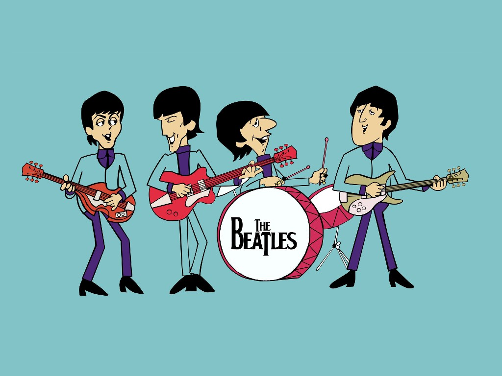 Music Wallpaper: The Beatles - Cartoon