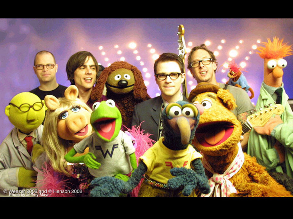 Music Wallpaper: Weezer and Muppets
