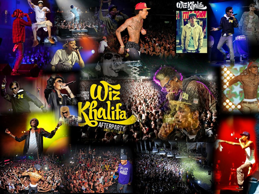 Music Wallpaper: Wiz Khalifa - Collage