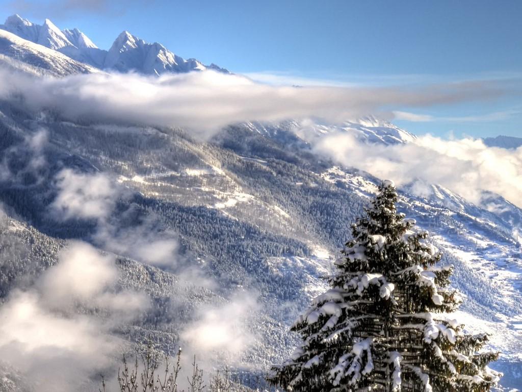 Nature Wallpaper: Alps - Winter