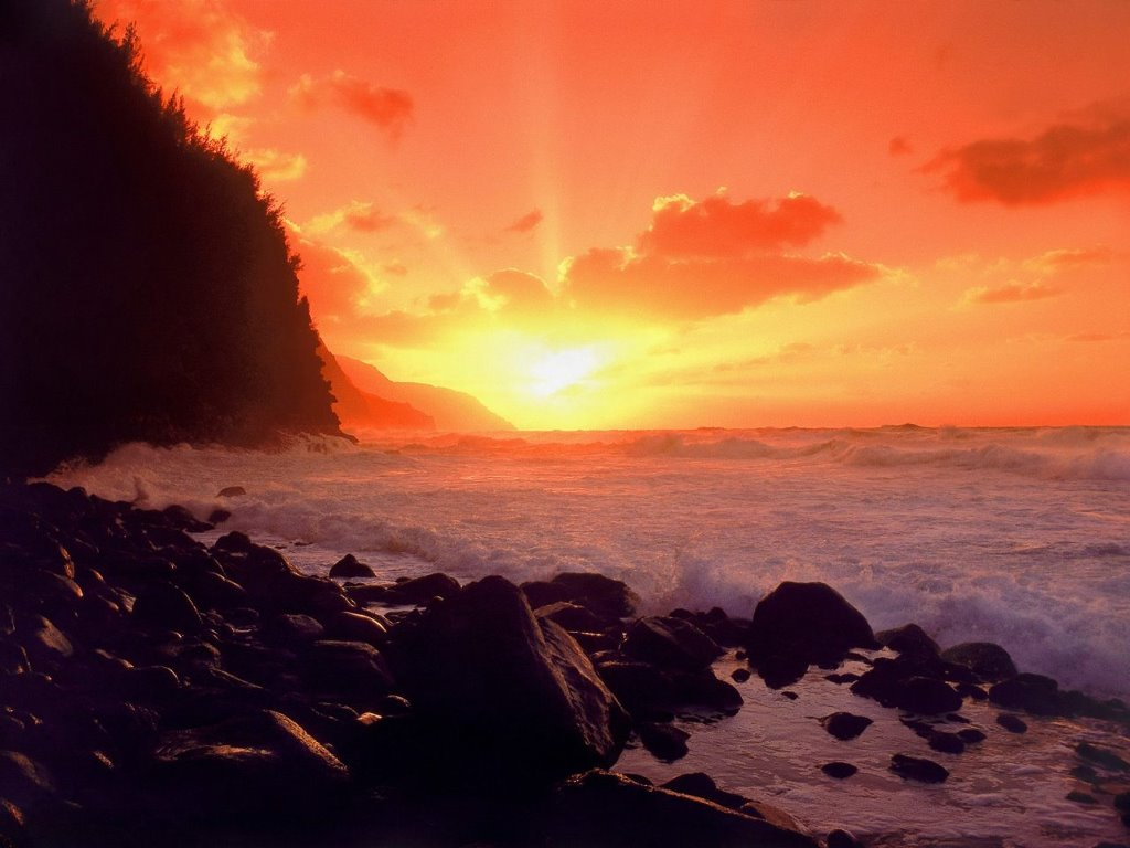 Nature Wallpaper: Coast - Sunset