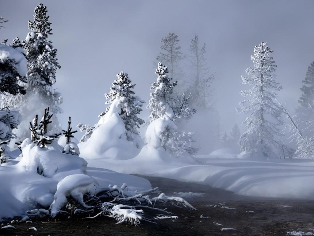 Nature Wallpaper: Creek - Winter