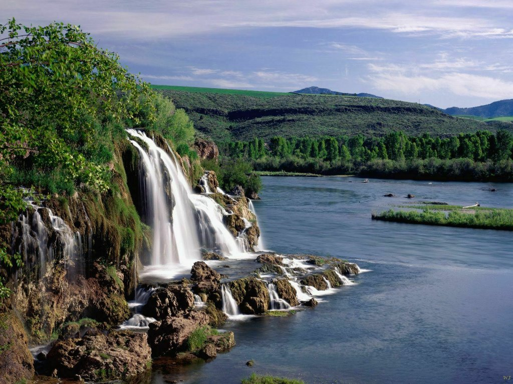 Nature Wallpaper: Fall Creek Falls and Snake River