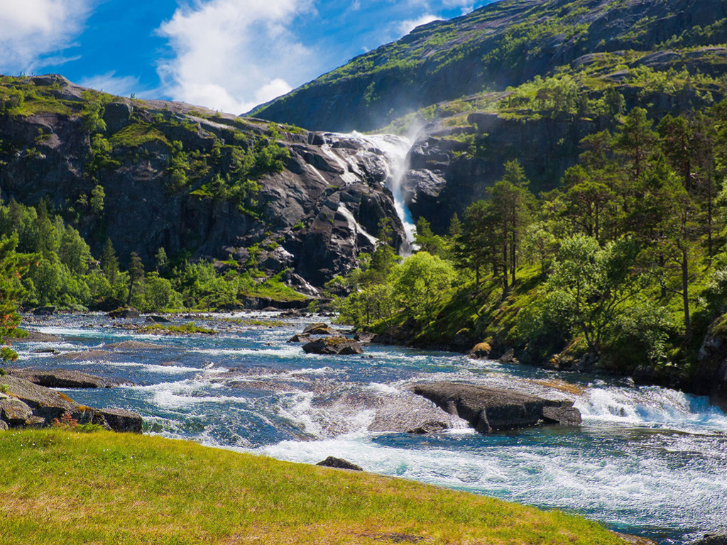 Nature Wallpaper: Falls and River