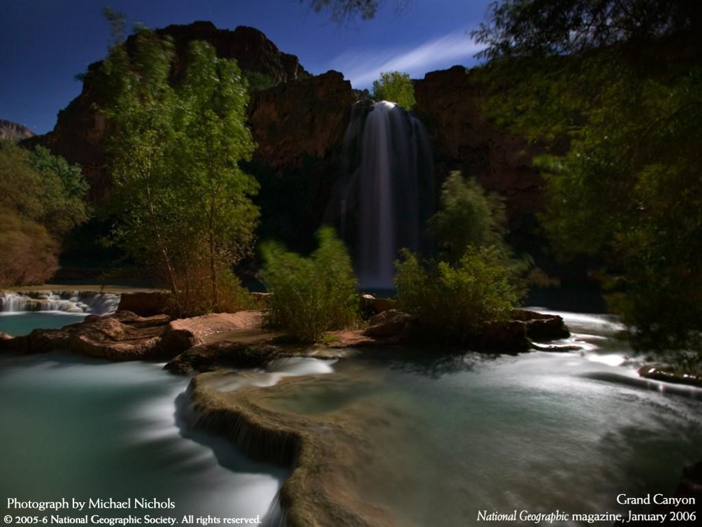 Nature Wallpaper: Grand Canyon - Waterfall
