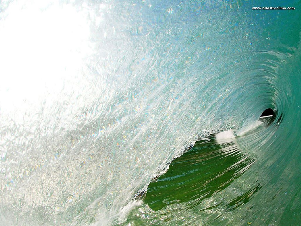 Nature Wallpaper: Inside a Wave (by Clark Little)