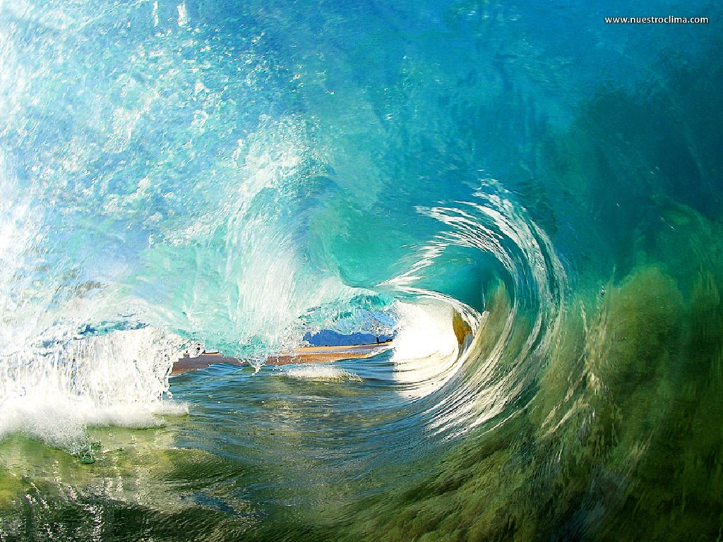 Nature Wallpaper: Inside Wave (by Clark Little)