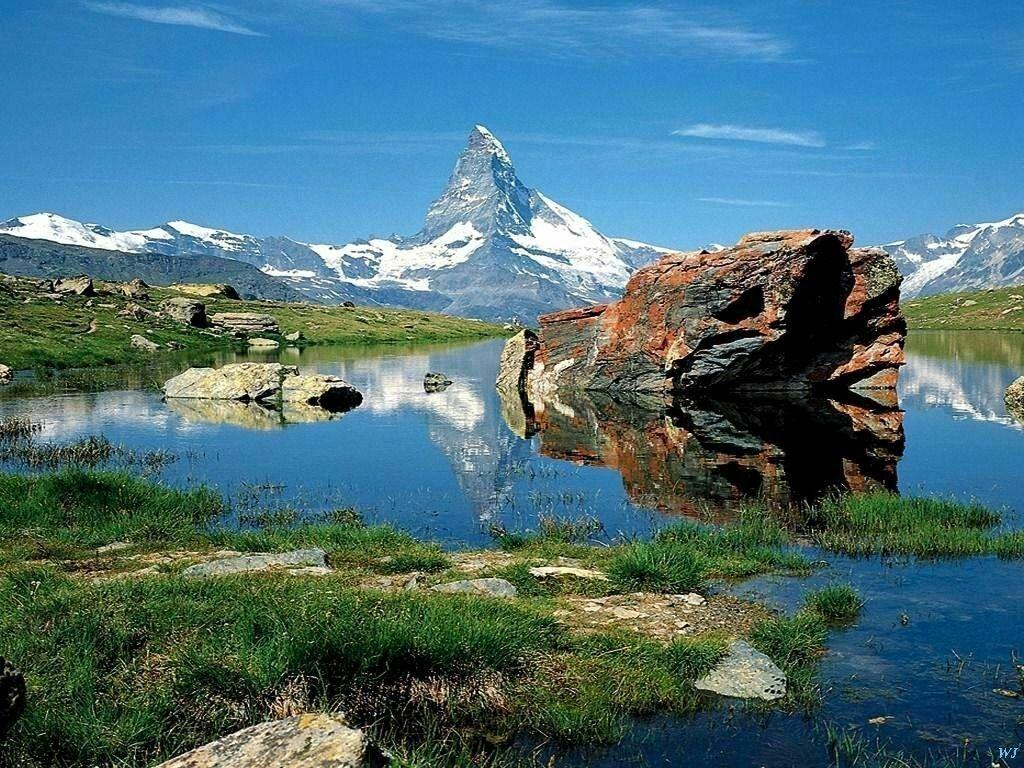 Nature Wallpaper: Matterhorn  - Lake