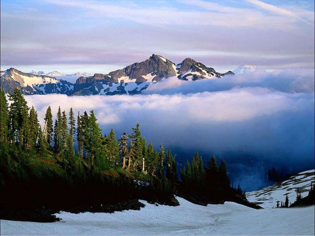 Nature Wallpaper: Mount Rainer - Clouds
