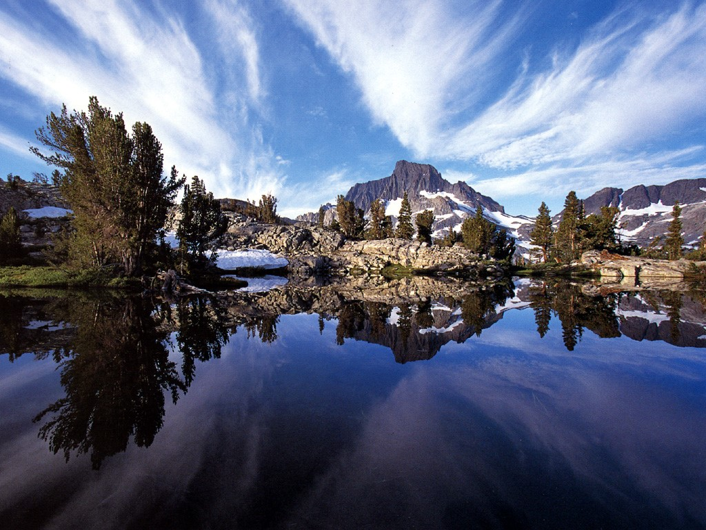 Nature Wallpaper: Mount Ritter - Thousand Island Lake
