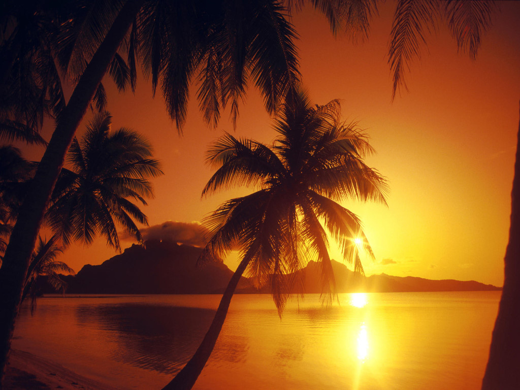 Nature Wallpaper: Polynesian Sunset - Bora Bora