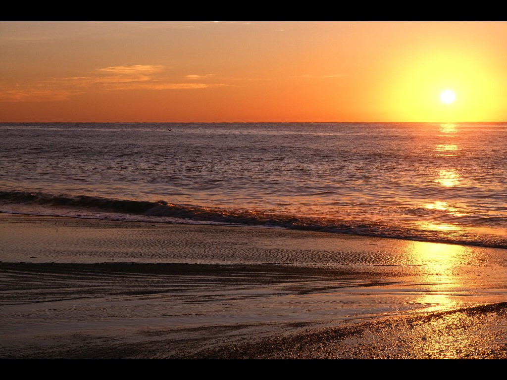Nature Wallpaper: Sunrise Over the Atlantic - Myrtle Beach