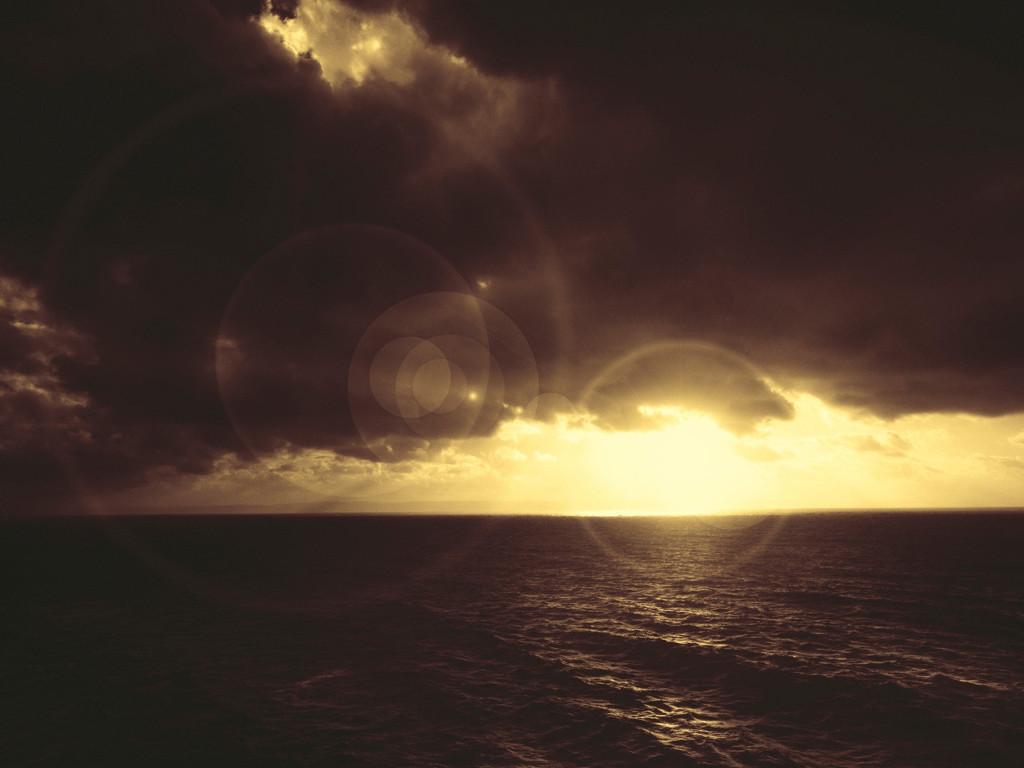 Nature Wallpaper: Sunset Over Ocean