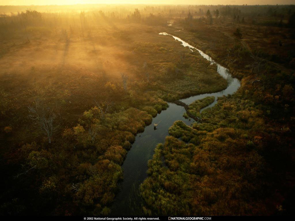 Nature Wallpaper: Sunset River