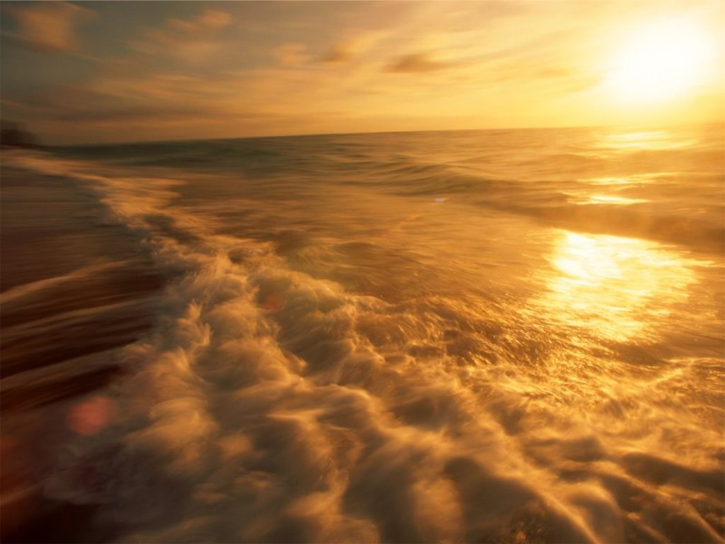 Nature Wallpaper: Sunset - Wave