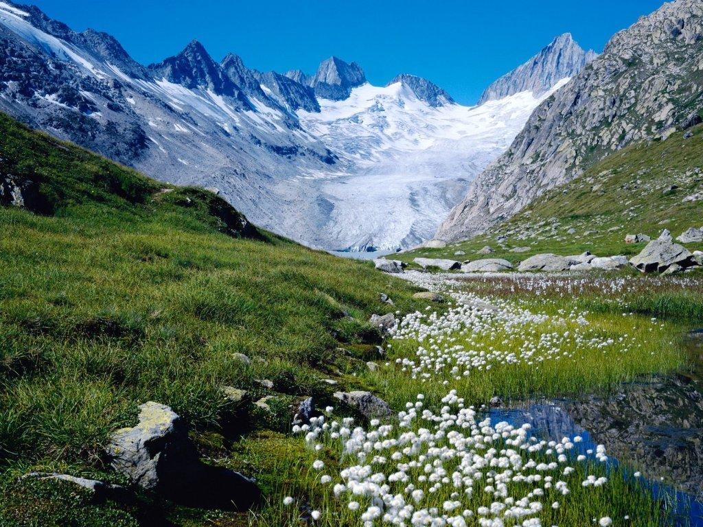 Nature Wallpaper: Unteraargletscher - Switzerland