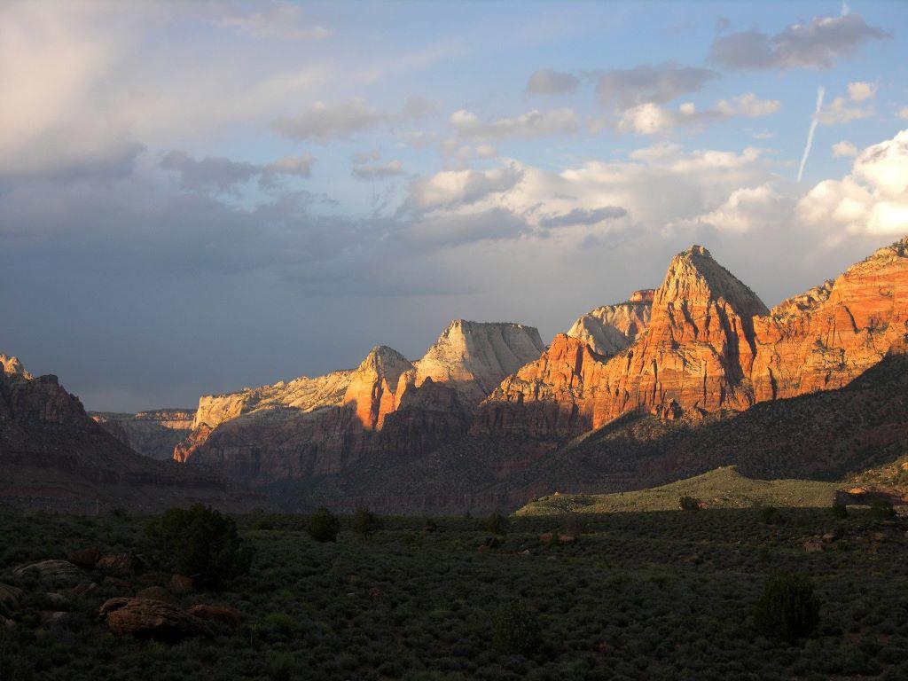Nature Wallpaper: Zion - Sunset