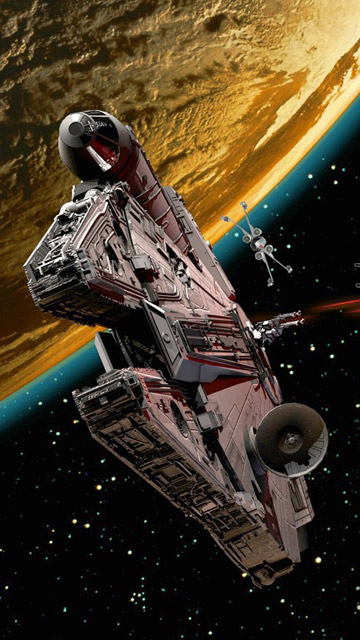 My Free Wallpapers Star Wars Wallpaper Millenium Falcon Destroying Tie Fighters