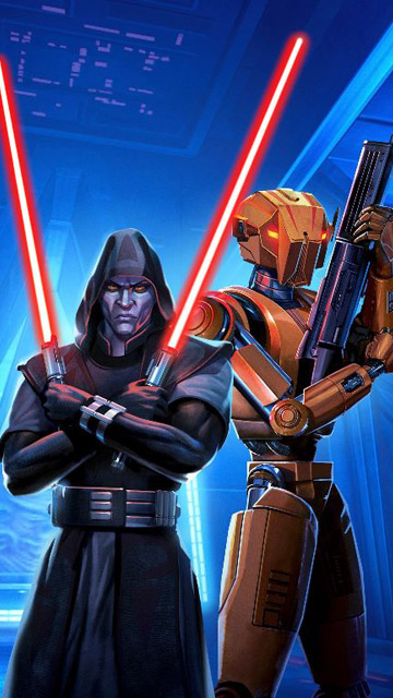 My Free Wallpapers Star Wars Wallpaper Old Republic Sith Lord And Hk 47
