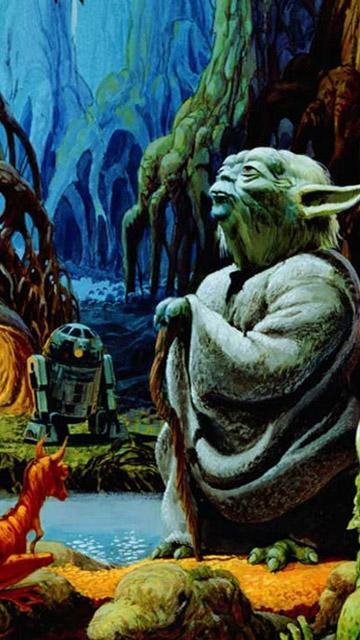 My Free Wallpapers Star Wars Wallpaper Yoda Dagobah