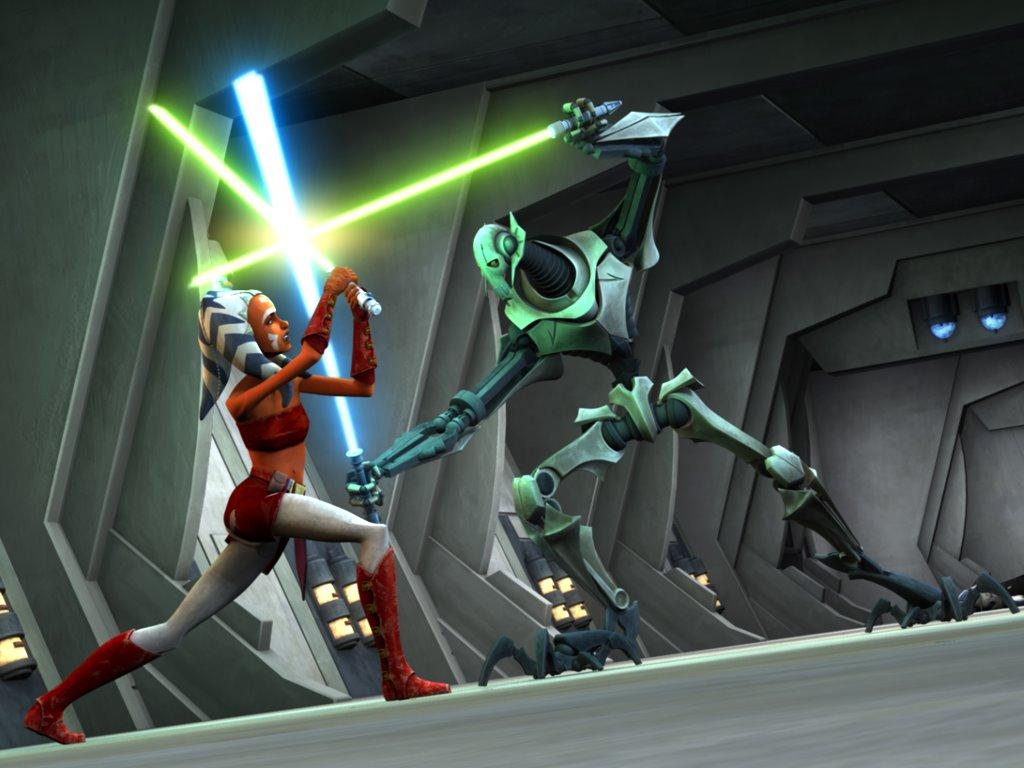 Star Wars Wallpaper: Ahsoka vs Grievous