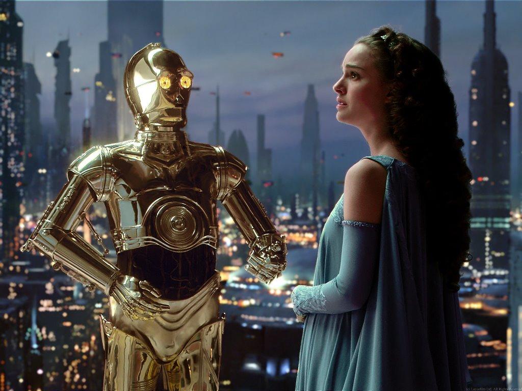 Star Wars Wallpaper: Amidala and C-3PO