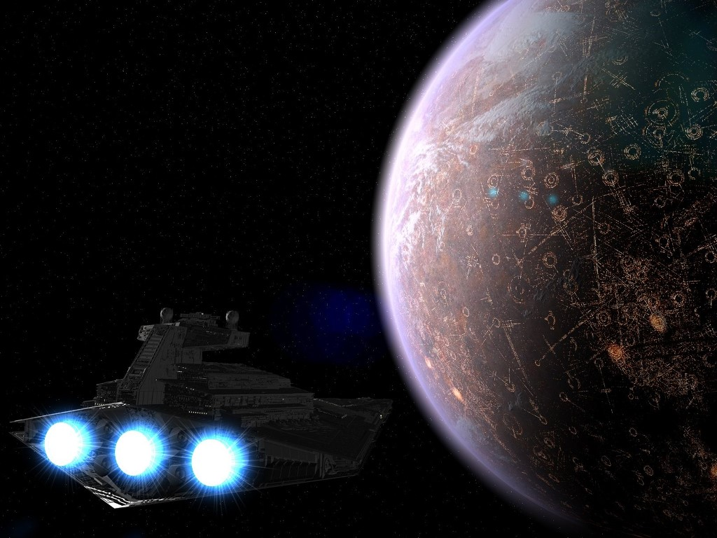 Star Wars Wallpaper: Arriving at Coruscant