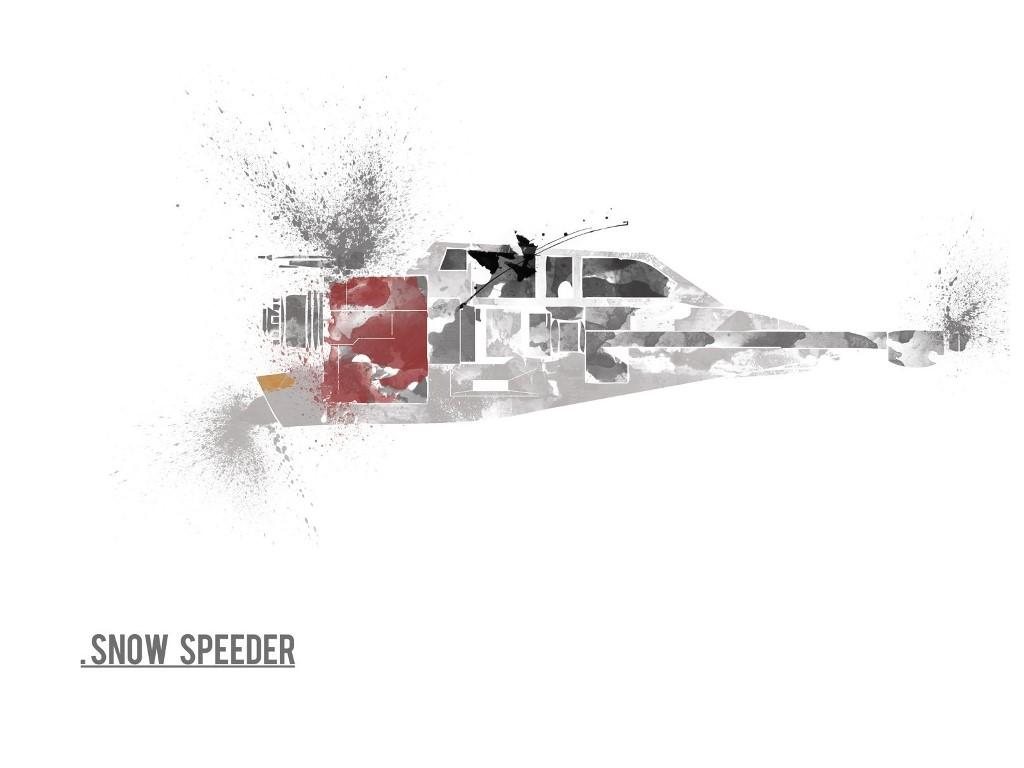 Star Wars Wallpaper: Snow Speeder