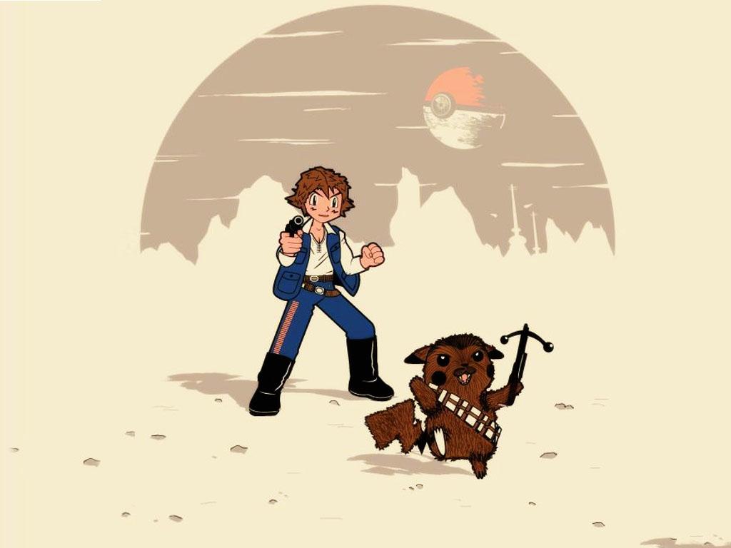 Star Wars Wallpaper: Ash Solo and Chewkachu