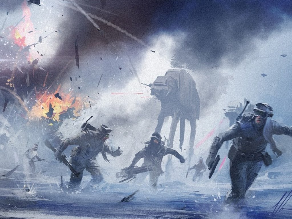 Star Wars Wallpaper: Assault on Hoth