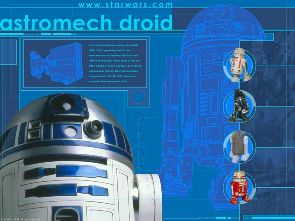 Star Wars Wallpaper: Astromech Droids