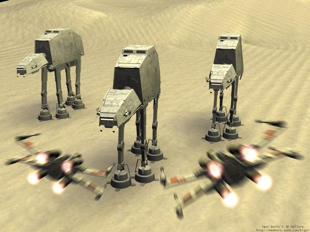 Star Wars Wallpaper: AT-AT Attacks