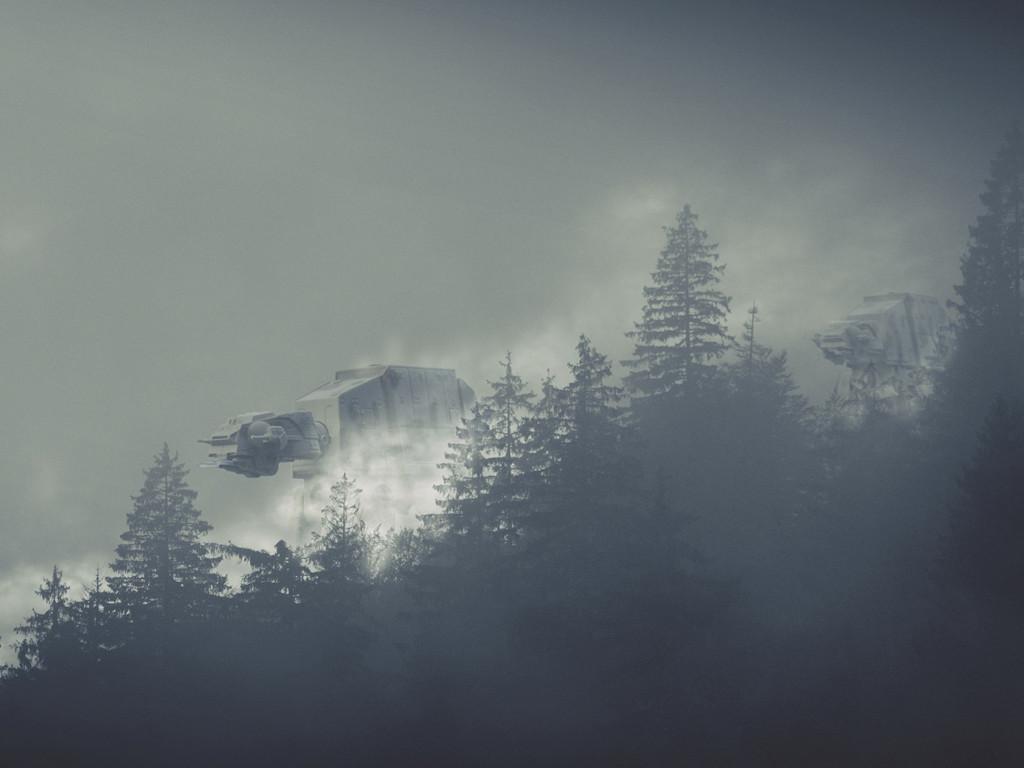Star Wars Wallpaper: AT-AT - Fog