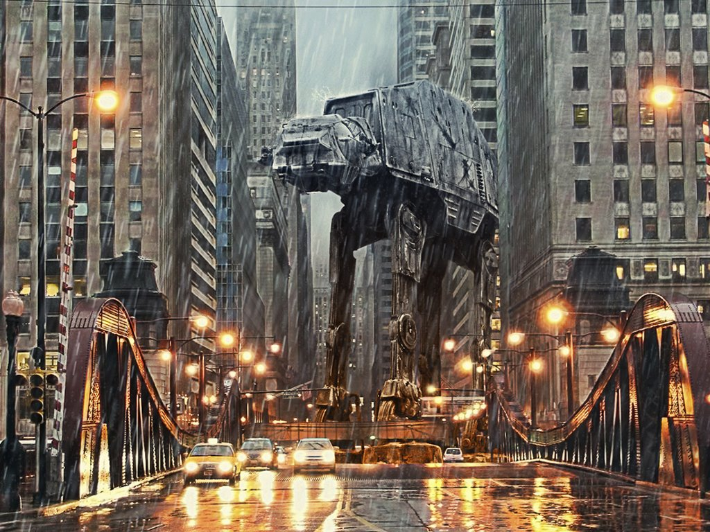 Star Wars Wallpaper: AT-AT in Chicago