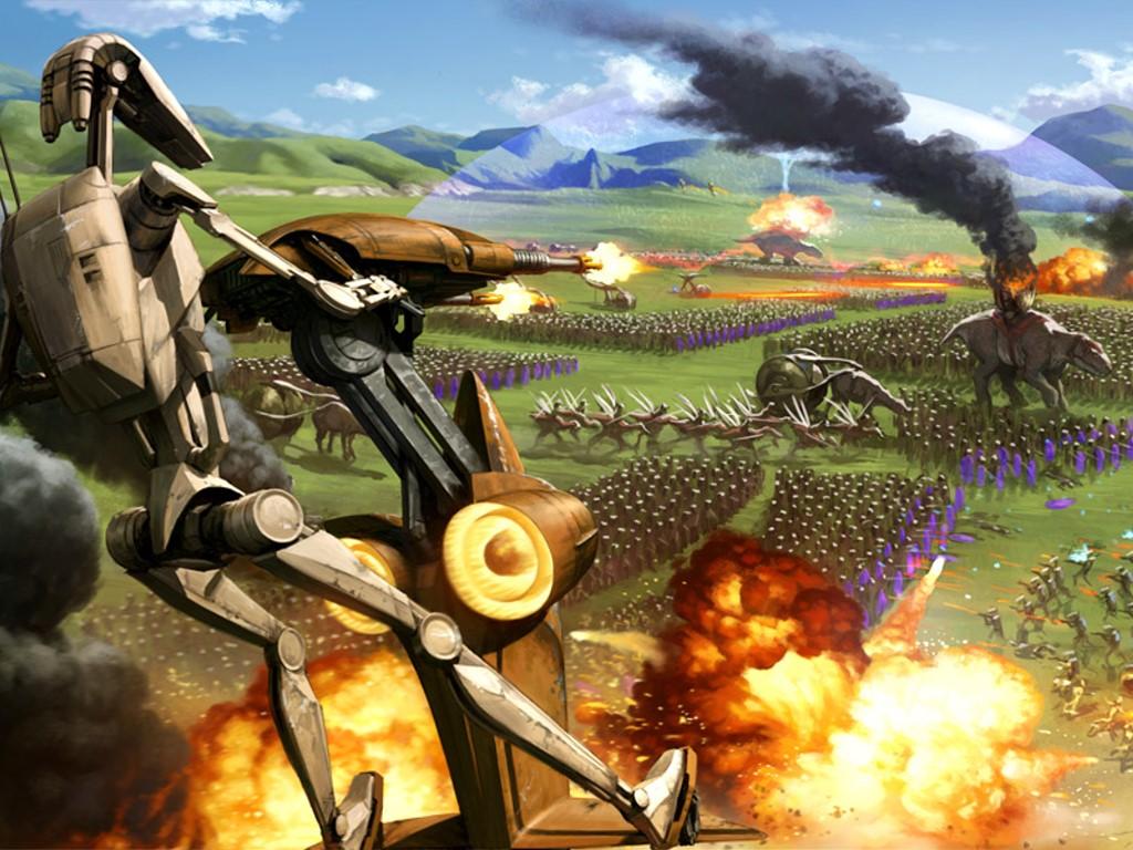 Star Wars Wallpaper: Battle of the Great Grass Plains (by Darren Tan)