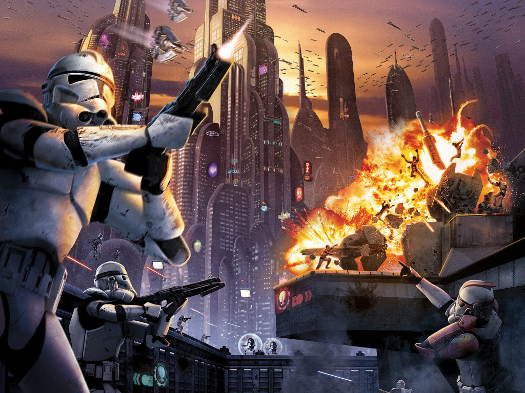 Star Wars Wallpaper: Battlefront - Battle for Coruscant