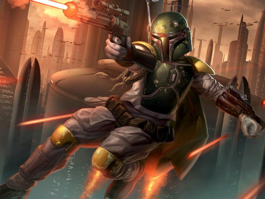 Star Wars Wallpaper: Boba Fett (by Mike Capprotti)