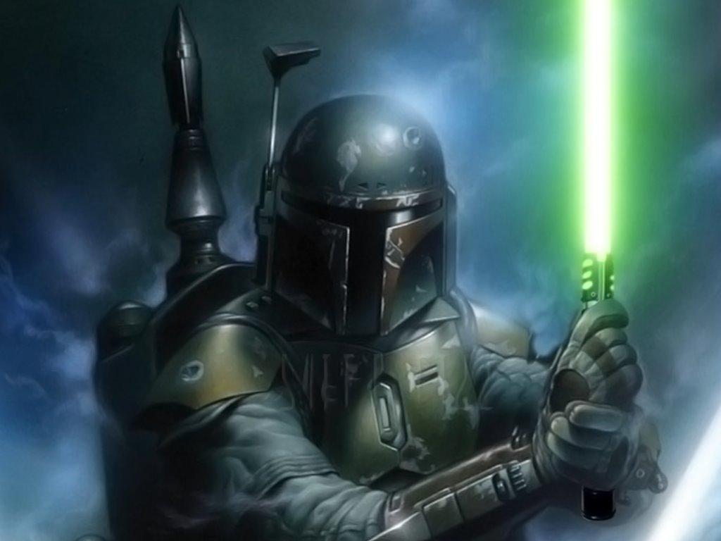 Star Wars Wallpaper: Boba Fett - Lightsaber