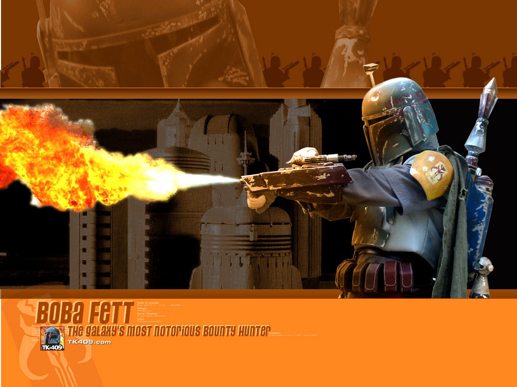 Star Wars Wallpaper: Bobba Fett - Flamethrower