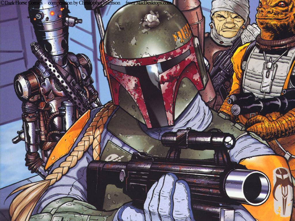 Star Wars Wallpaper: Bobba Fett - Manga
