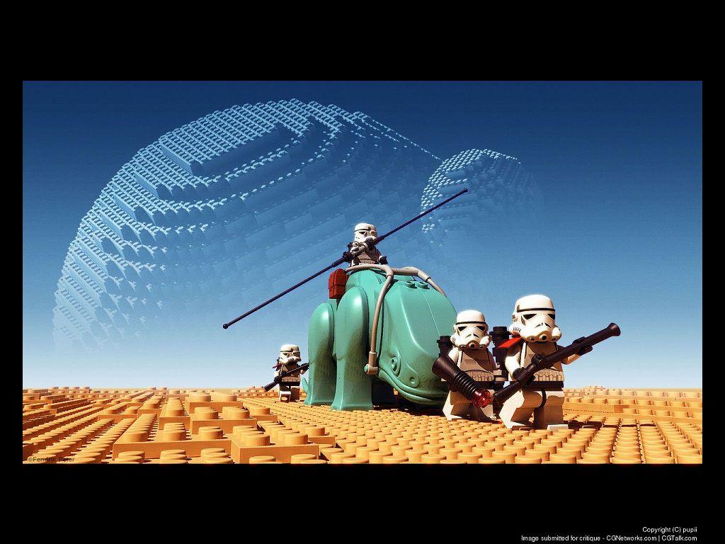 Star Wars Wallpaper: Brick Patrol