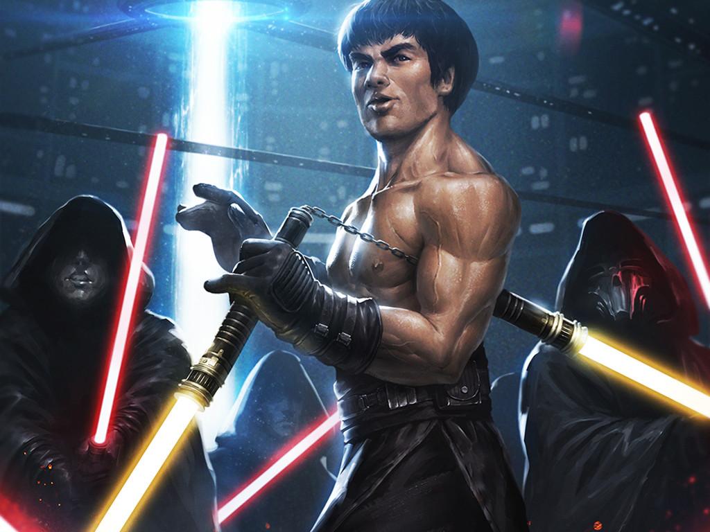 Star Wars Wallpaper: Bruce Lee - Jedi Master