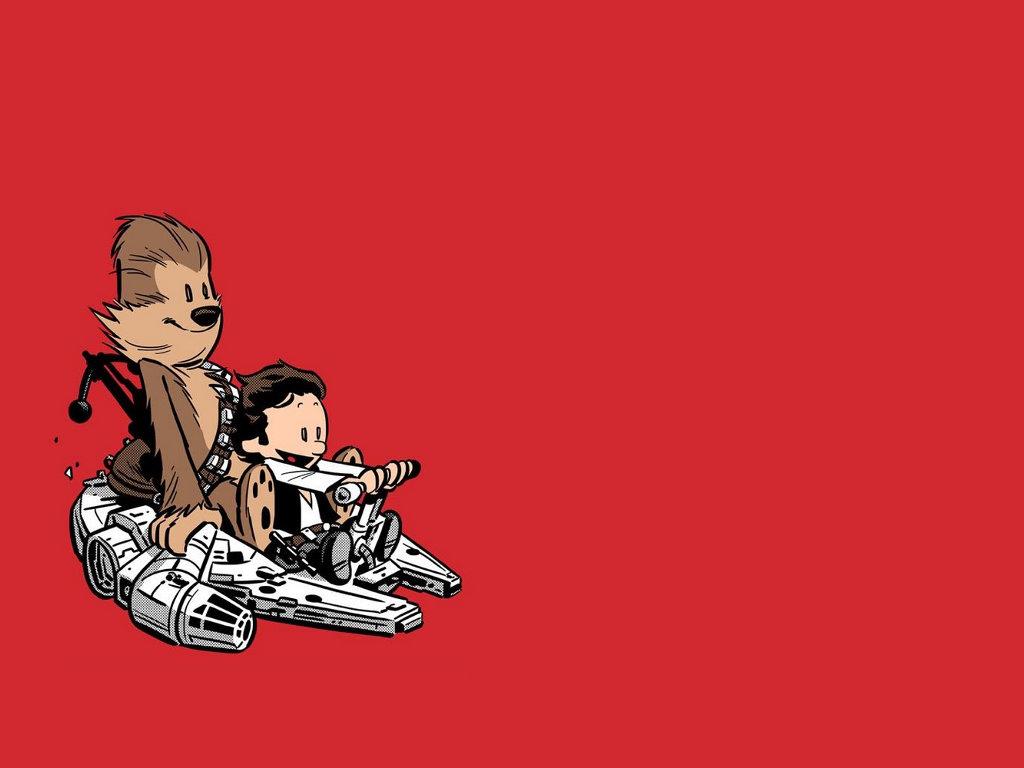 Star Wars Wallpaper: Calvin and Hobbes - Star Wars